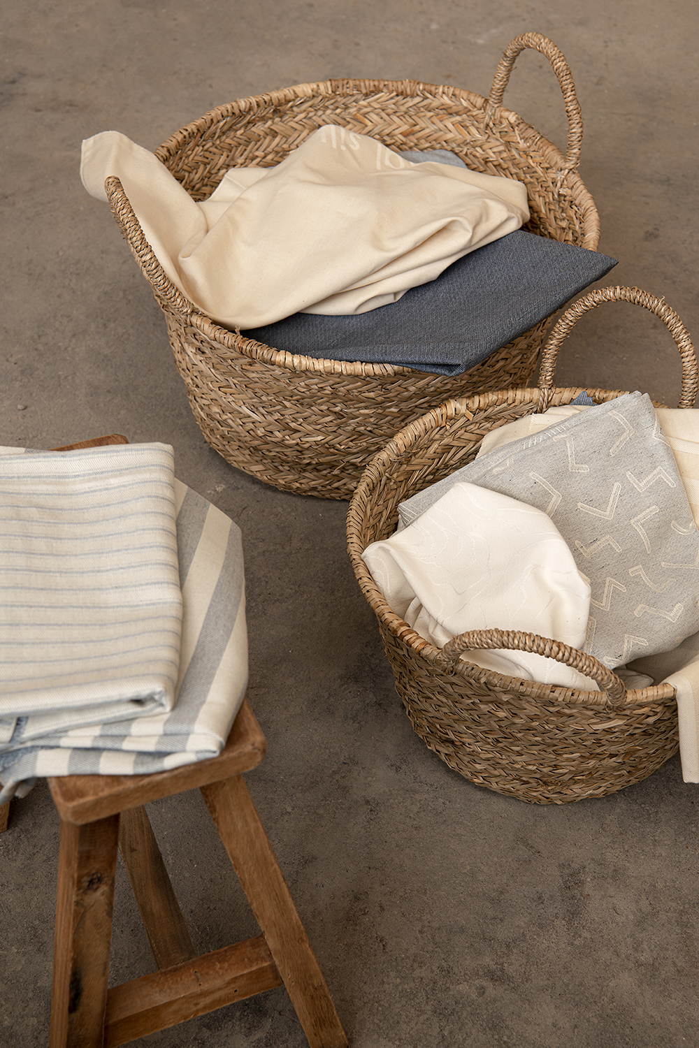 Wicker storage baskets to store things you frequently use