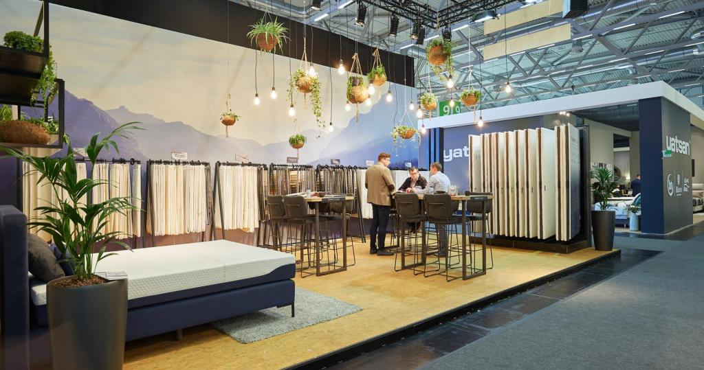 Love home Fabrics booth at IMM